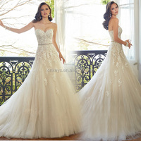 K1661A Top quality new mermaid design ball gown wedding dress the bride in 2017