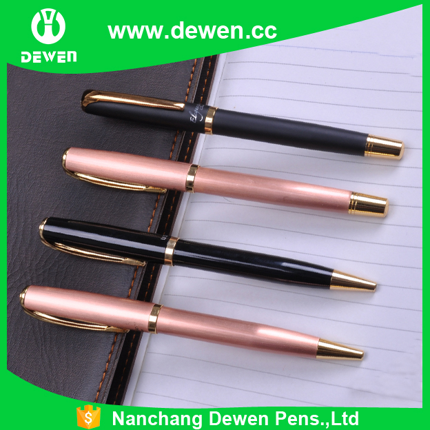 beauty color custom metal ballpen &roller ball pen sets for lady
