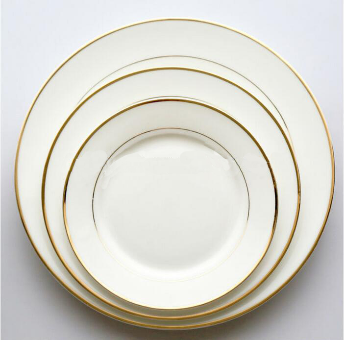 luxury gold rim dinner plates new bone china salad plates & Luxury Gold Rim Dinner Plates New Bone China Salad Plates - Buy Gold ...
