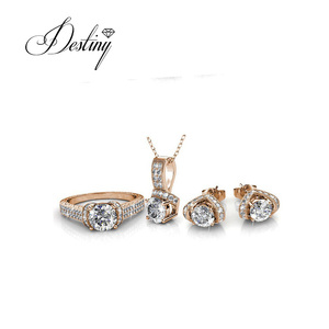 Destiny Jewellery fashion bridal Pendant Earrings and Ring jewelry set for wedding women made with crystals from Swarovski