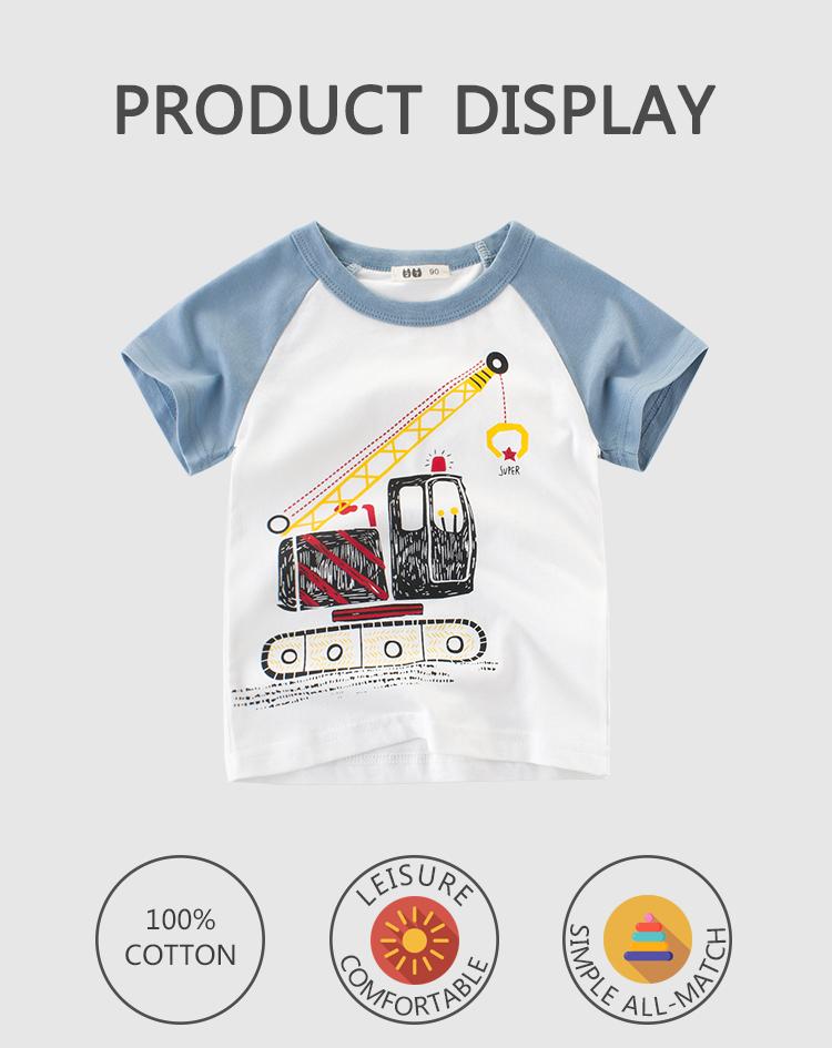 Boutique en ligne prix concurrentiel contraste manches raglan chemises d'été pour bébé enfants