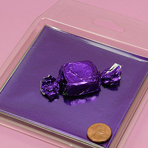"""Colored Purple Candy Foil Wrappers 4"""" X 4"""" - Candy Packaging - 125 each by Paper Mart"""