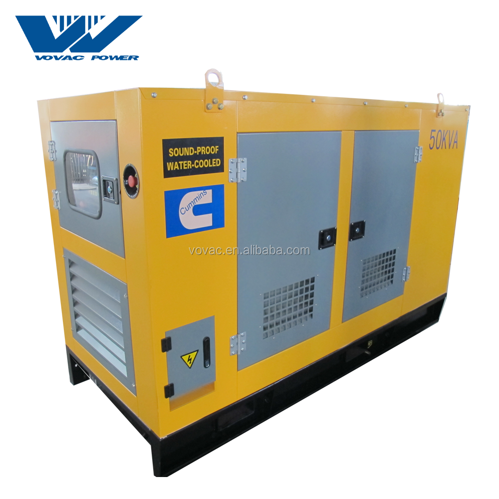 Hot Sale Cheap Price 40Kw 50Kva Silent Diesel Generator With Cummins Engine