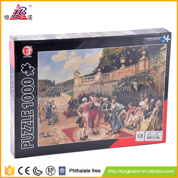 Good quality custom jigsaw puzzle 1000 pieces for kids