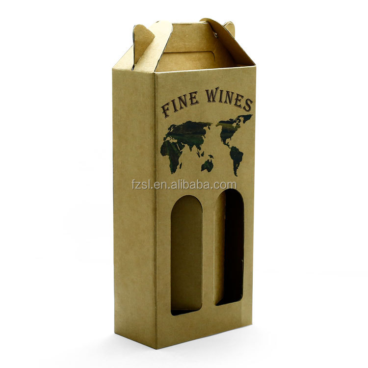 Unique design custom printed luxury corrugated cardboard  paper wine bottle boxes