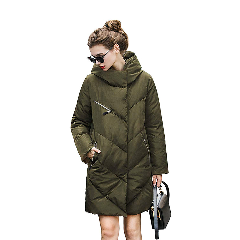 2019 light weight high quality warm winter women quilted down coat girl warm long down jacket