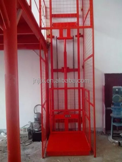 hydraulic vertical platform lift/guide rail platform lifter/lifting cargo lift
