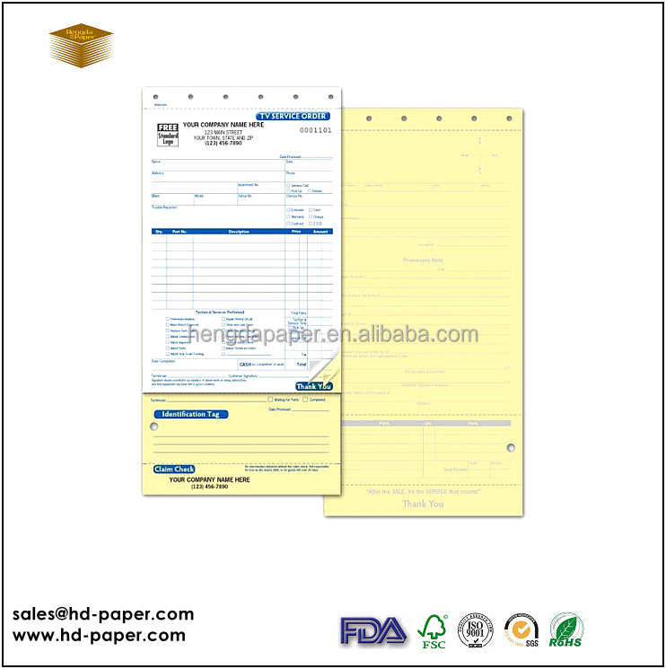 Printed Computer NCR Form Paper