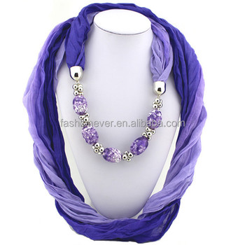 Colorful resin beads pendant jewelry scarf women fashion popular colorful resin beads pendant jewelry scarf women fashion popular charm necklace scarves aloadofball Images
