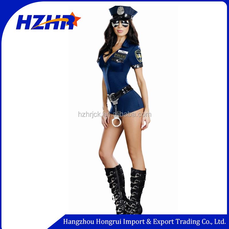 Spaß Uniformen Versuchung Polizistin Blau Reißverschluss Polizei ...