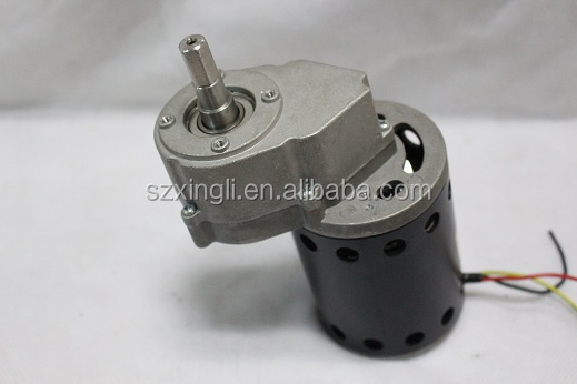 150W 150RPM 3.5A Turque3.5 diameter76mm gearbox motor for golf trolley