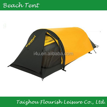 1 person yellow u0026 black camping tentsingle backpacking tenthiking tent