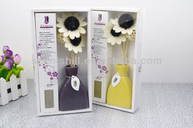 Natural ceramic bottle packed air freshener essenza flower diffuser