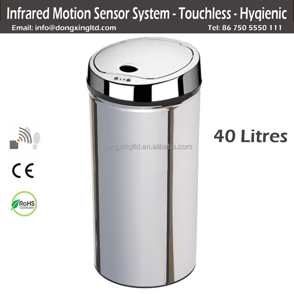 Stainless Steel household Kitchen Sensor Garbage Bin
