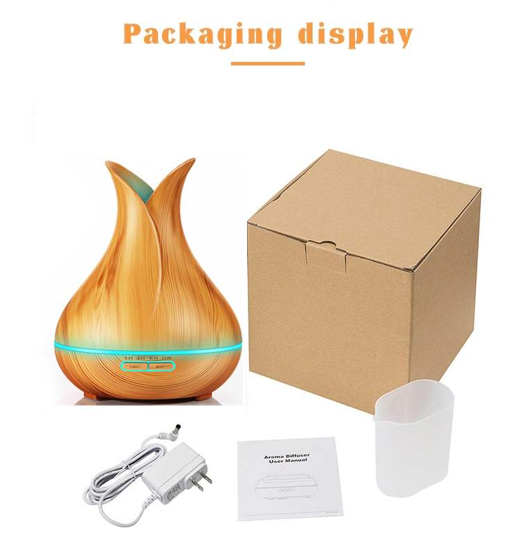 2018 New Products 400ML Wood Grain Ultrasonic Aromatherapy Essential Oil Aroma Diffuser