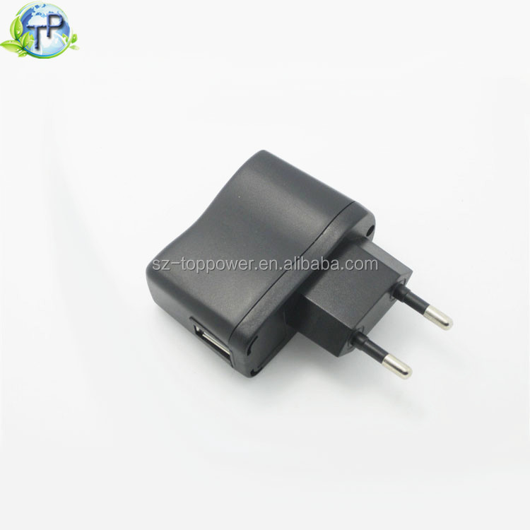 Electric Plug In 5V 300mA 500mA 1000mA MP3 MP4 Power Supply For Mobile Phone USB Charger