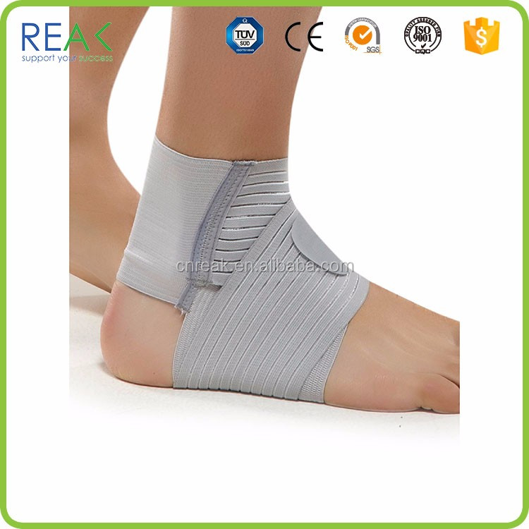New tightness Gray nylon.neoprene air gel ankle brace