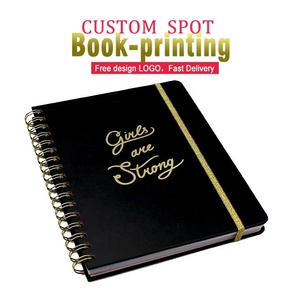 Custom thick hardcover custom black a4/b5 luxury paper diary Spiral YO notebook printing