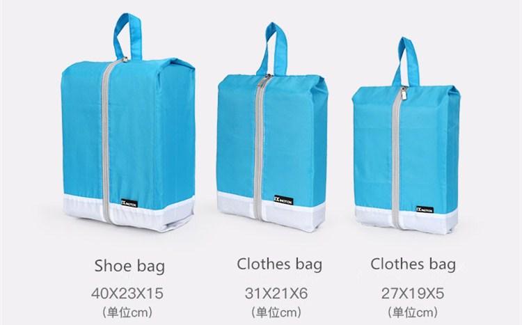 Usine de haute qualité organisateur de voyage ensemble de bagages sac de voyage ensemble de cubes d'emballage