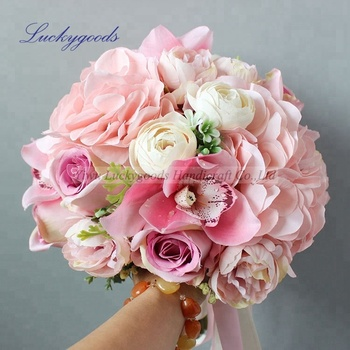 Lbt051bridal bouquet wedding flower wholesale rose orchid flower lbt051bridal bouquet wedding flower wholesale rose orchid flower baby pink bridal bouquet mightylinksfo