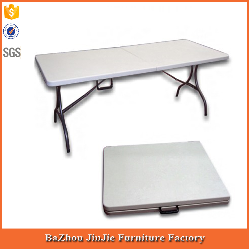 2015 Portable table pliante-6' rectangle table pliante HDPE table top/tables pliantes en plastique en gros/en plastique table