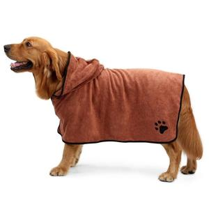 Super Absorbent of the Pet Bathrobe with Waist Belt/Hood for pets