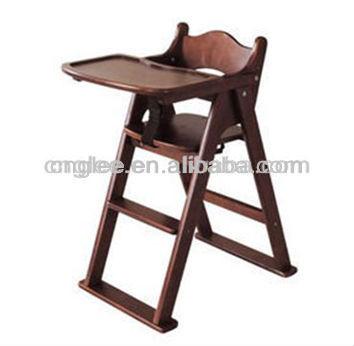 Excelente madera silla de comedor de beb sillitas para for Silla de bebe de madera