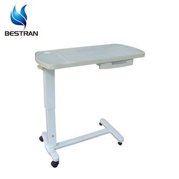 Bt At009 Top Hospital Bed Tray Table Movable Overbed