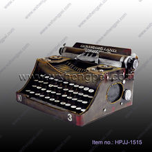 Antique metal typewriter model