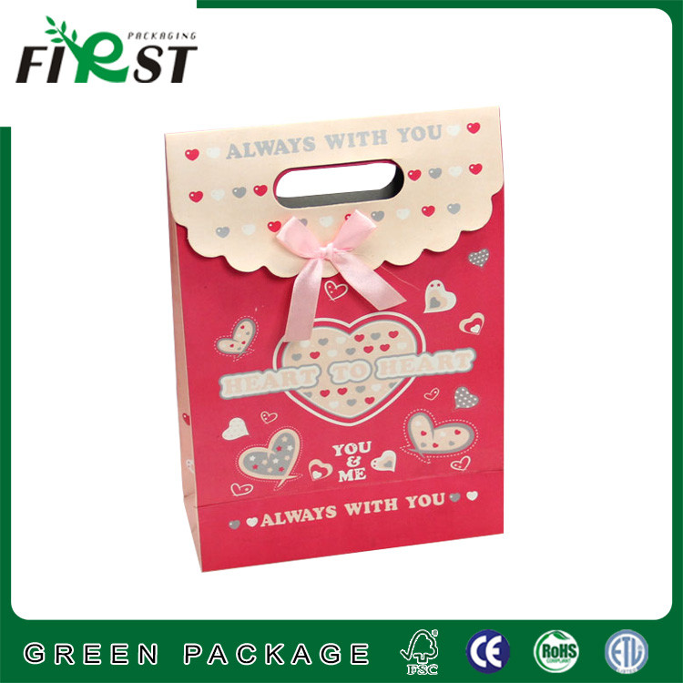 favor candy paper packaging box with ribbon
