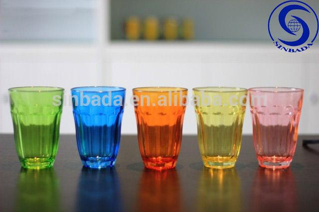 Art culos de vidrio de color potable de vidrio venta al for Vasos cristal colores