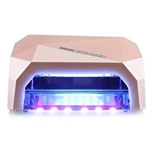 RioRand 36W Nail Dryer Professional Diamond Shaped CCFL & LED UV Nail Lamp (UV & LED 2 in 1 Nail Gel Lamp) Curing Nail Dryer for LED UV Gel Nail Polish nail tools - Champagne