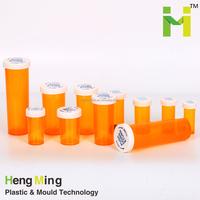 BPA FREE High Quality Amber Child Resistant Plastic Medicine Bottle