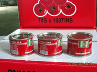 Offering pure canned tomato paste with light red color