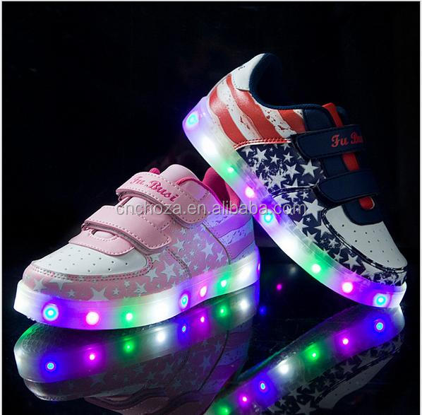 Z53731b Kids & Children Night Light Fashion Shoes Led