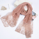 wholesale muslim women latest velvet stoles and shawls newest cotton lace hijab scarf pashmina