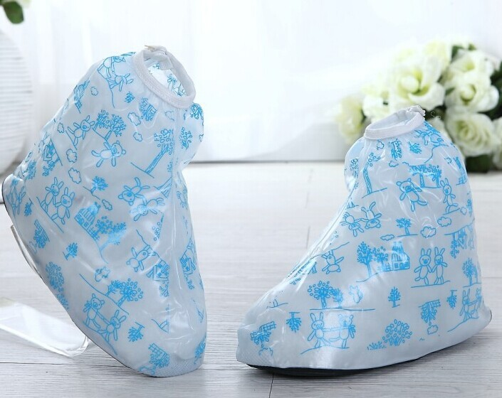 PVC Boy rain shoe cover, plastic rain shoe covers, shoe cover