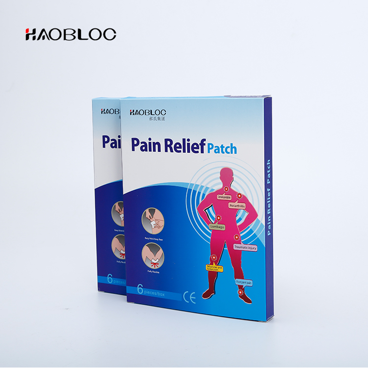 100% natural pain patch/aching shoulder plaster/pain relief patch (hot) with custom stickers