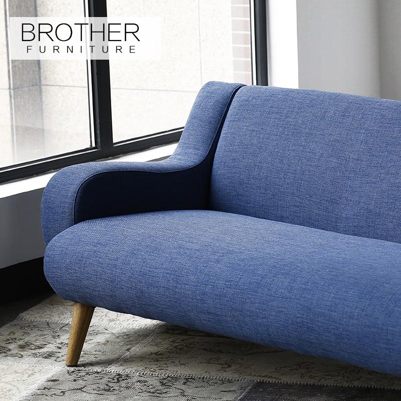 tapicera de muebles modernos sofs de tela marco de madera para sala