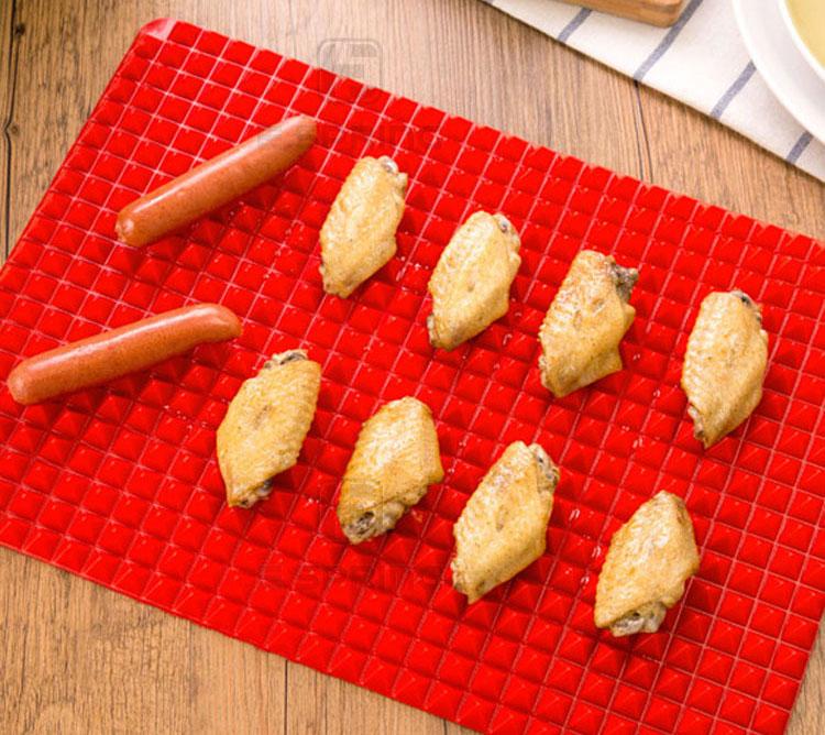 Pyramid Pan Non Stick Silicon Cooking Mat Oven Baking Tray