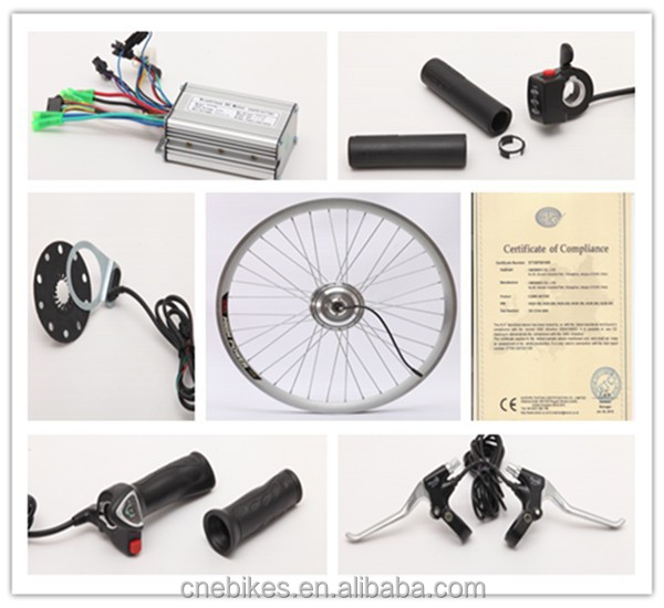 CE!36v 250w front or rear motor electric bike conversion kit china
