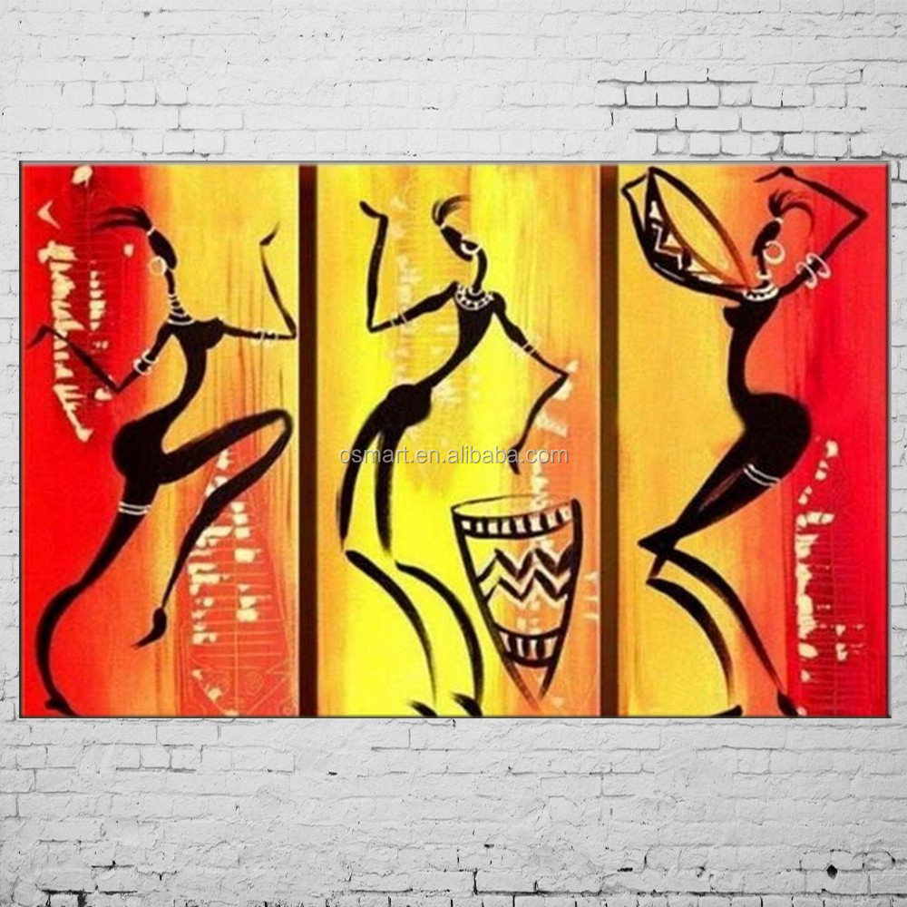 Hand Painted Abstract African Women Painting Brush Oil Paintings On ...
