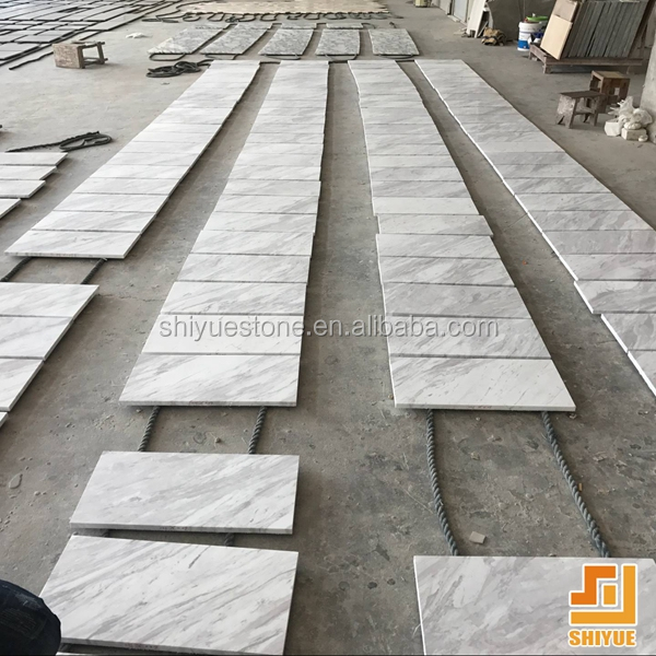 Greece volakas white marble white marble with black veins marble floor tile