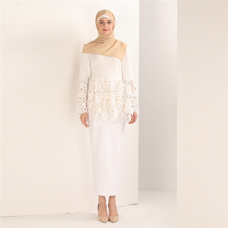 Wholesale Muslim Women Tops New Designer Blouse Fashion with Lace