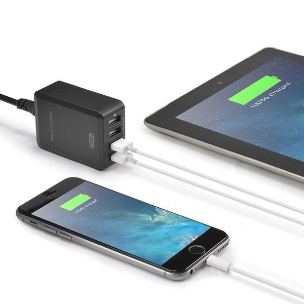 RAVPower Bolt RP-UC07 40W/8A 4 USB port Wall Charger-Black