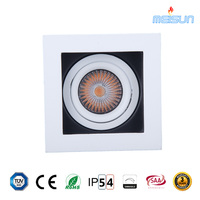 factory sale square 7w citizen cob recessed led downlight with CRI>97