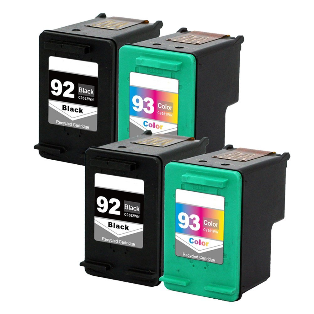 Get Quotations · LiC-Store 4x (2 Black, 2 Tri-Color) For HP 92