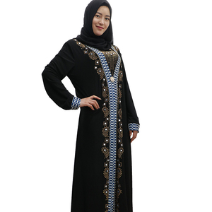 2019 new model black kaftan islamic clothing turkish abaya muslim dresses