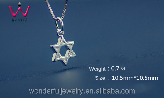 HOT Star of David pendant divine power graphics lucky talisman Stainless Steel Pendant neckalce good gifts For girls