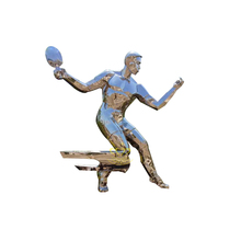 Hoge gepolijst tuin ornament producten rvs sport Figuur <span class=keywords><strong>standbeeld</strong></span>